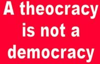 Theocrac-is-not-democracy