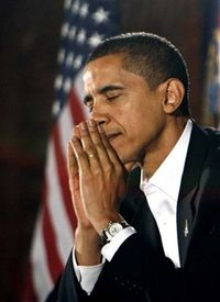 Barack-praying