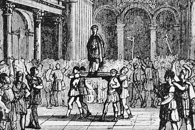 Emperor julian raised on shield