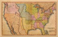 1835 map of the USA