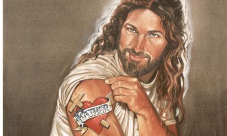 Jesus-surfer-dude-tattoo