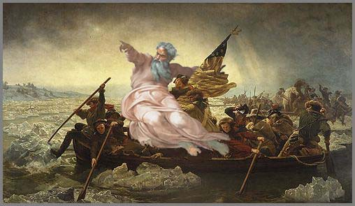 God Crossing the Delaware