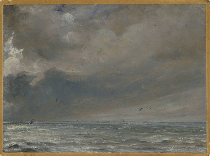 John Constable, The Sea near Brighton, 1826