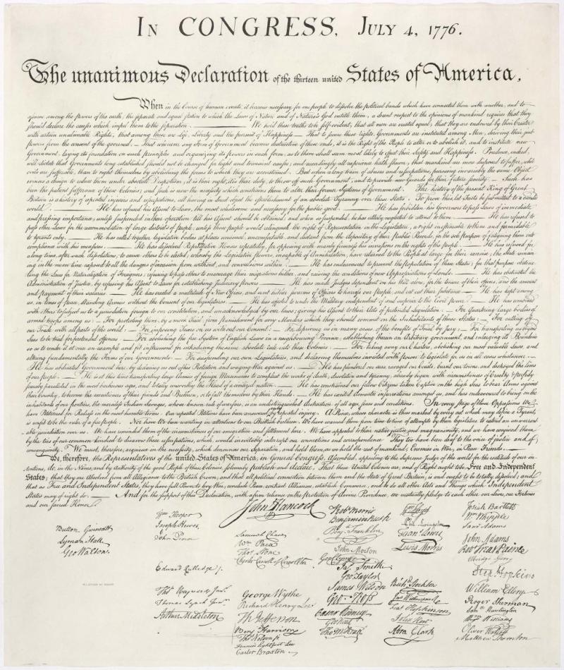 Declaration-stone-engraving